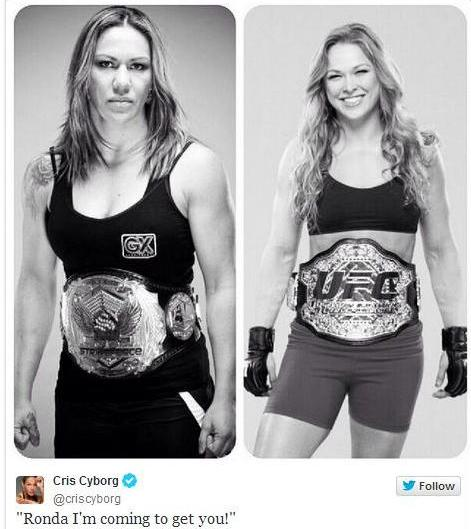 Cyborg vs Rousey frasesdeboxeo
